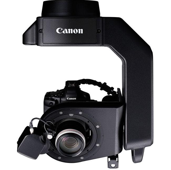 Robotic Camera System CR-S700R może być zainstalowany wpionie (po lewej) lub podwieszony (po prawej)
