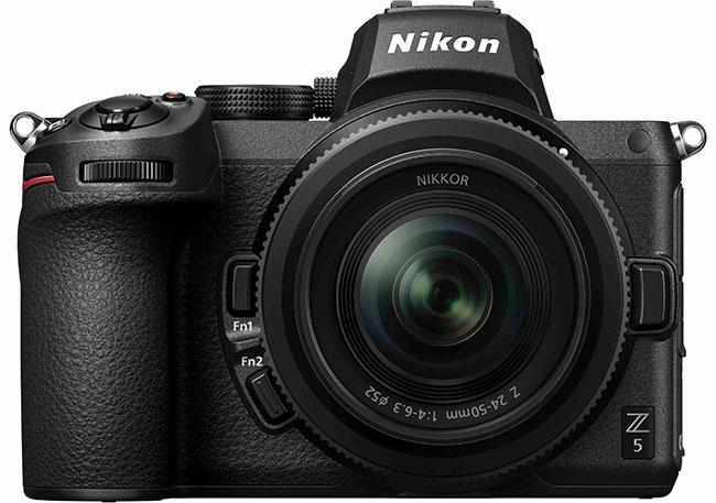 Pełnoklatkowy Nikon Z5  zobiektywem Nikkor Z 24-50 mm f/4-6,3